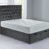 image-Shenice Front Opening Divan Set - Ottoman Grace Pewter (Grey)