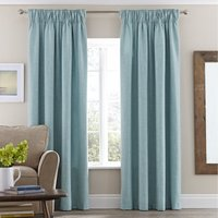 Vermont Duck-Egg Pencil Pleat Curtains Duck Egg (Blue)