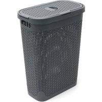 Addis Slim 40L Charcoal Laundry Basket Charcoal