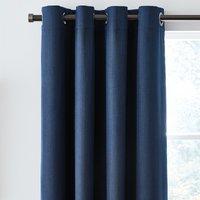 Solar Navy Blackout Eyelet Curtains Navy Blue