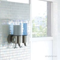 simplehuman Double Shower Soap Pump Steel