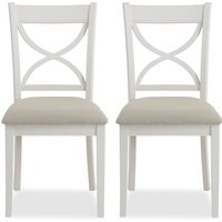 image-Blakely Cotton Pair of Dining Chairs Cotton (Grey)