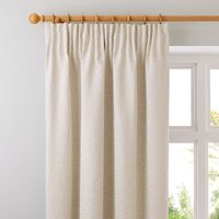 Willow Ivory Pencil Pleat Curtains Beige