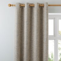 Thornton Blue Eyelet Curtains Blue and Brown