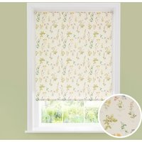 image-Healing Garden Daylight Roller Blind Yellow, Green and Pink
