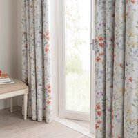 Dorma Wildflower Blackout Pencil Pleat Curtains White / Pale Purple