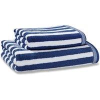 image-Nautical Stripe Navy Towel Navy (Blue)