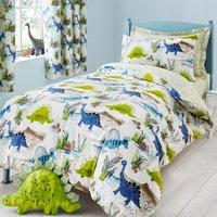 image-Roar! Dinosaur Reversible Green Duvet Cover and Pillowcase Set Green