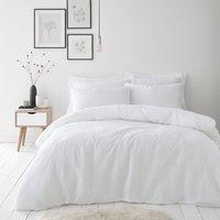 image-Alissa 100% Cotton White Duvet Cover and Pillowcase Set White