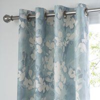 Honesty Teal Thermal Eyelet Curtains Teal Blue