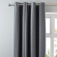 Willington Grey Blackout Eyelet Curtains Grey