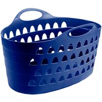 image-Flexi 60 Litre Blue Laundry Basket Navy (Blue)