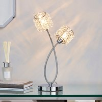 image-Jaimee 2 Light Chrome Table Lamp Chrome