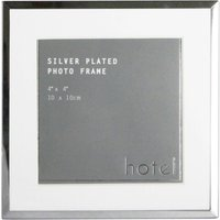 image-Hotel Silver 4x4 Photo Frame Silver