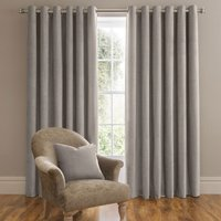 Dorma Lymington Grey Eyelet Curtains Grey