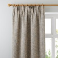 Thornton Blue Pencil Pleat Curtains Brown and Blue