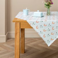 Country Hens PVC Tablecloth Grey