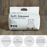 Fogarty Little Sleepers Soft Touch Star 4 Tog Duvet and Pillow Set White