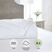 Dorma Sumptuous Down Like 4.5 Tog Duvet White