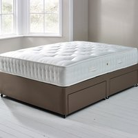 image-Fogarty Orthopaedic 1000 Mattress and Sprung Edge Divan Set with 4 Drawers Chocolate Brown