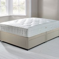 image-Fogarty Orthopaedic 1000 Mattress and Sprung Edge Divan Set with 4 Drawers Cream