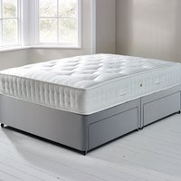 image-Fogarty Orthopaedic 1000 Mattress and Sprung Edge Divan Set with 4 Drawers Grey