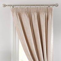 Chenille Cream Thermal Pencil Pleat Door Curtain Cream