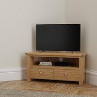 image-Bromley Oak Corner TV Stand Natural