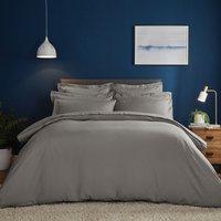 Fogarty Soft Touch Slate Duvet Cover and Pillowcase Set Slate (Grey)