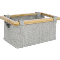 image-Elements Grey Bamboo Basket Grey