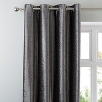 5A Fifth Avenue Broadway Charcoal Eyelet Curtains Charcoal