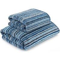image-Blue Stripes Towel Blue