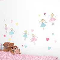 Fairies Wall Stickers White / Pink