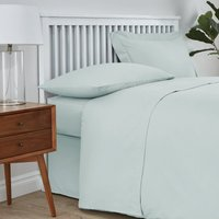 Easycare Cotton 180 Thread Count Flat Sheet Duck Egg Blue
