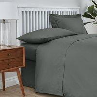 Easycare Cotton 180 Thread Count Flat Sheet Graphite Grey