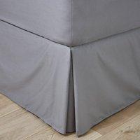 Easycare Plain Dye 100% Cotton 180 Thread Count Dove Grey Pleated Valance Dove Grey