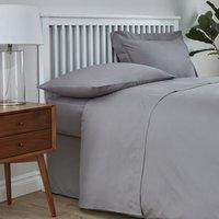 Easycare Cotton 180 Thread Count Flat Sheet Dove Grey