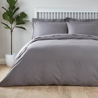 image-Easycare Plain Dye 100% Cotton Dove Grey Duvet Cover Dove (Grey)