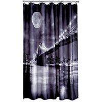 image-Brooklyn Bridge Shower Curtain Grey
