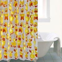 Cheeky Duck Shower Curtain Yellow