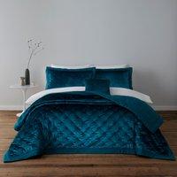 image-Valentina Velvet Teal Bedspread Teal (Blue)