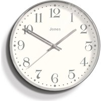image-Jones Penny 30cm Wall Clock Grey Chrome