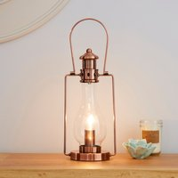 image-Horse Lantern Copper Table Lamp Copper