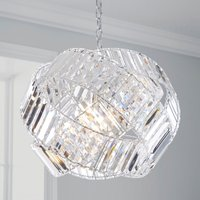 image-Monsanto 1 Light Pendant Jewel Chrome Ceiling Fitting Chrome