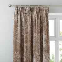 Crushed Velour Champagne Pencil Pleat Curtains Champagne