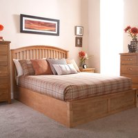 image-Madrid Natural Ottoman Bedstead Brown