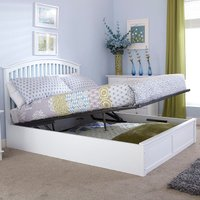 image-Madrid White Ottoman Bedstead White