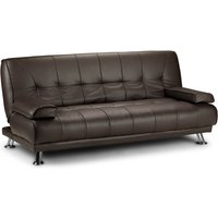 image-Venice Faux Leather Sofa Bed Brown