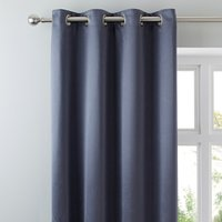 5A Fifth Avenue Venice Grey Blackout Eyelet Curtains Graphite (Grey)