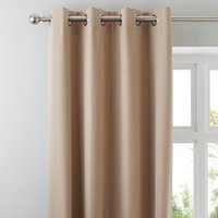 Solar Biscuit Blackout Eyelet Curtains Biscuit (Brown)
